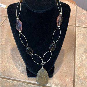 💐5/25 lia Sophia circle glass pendant necklace